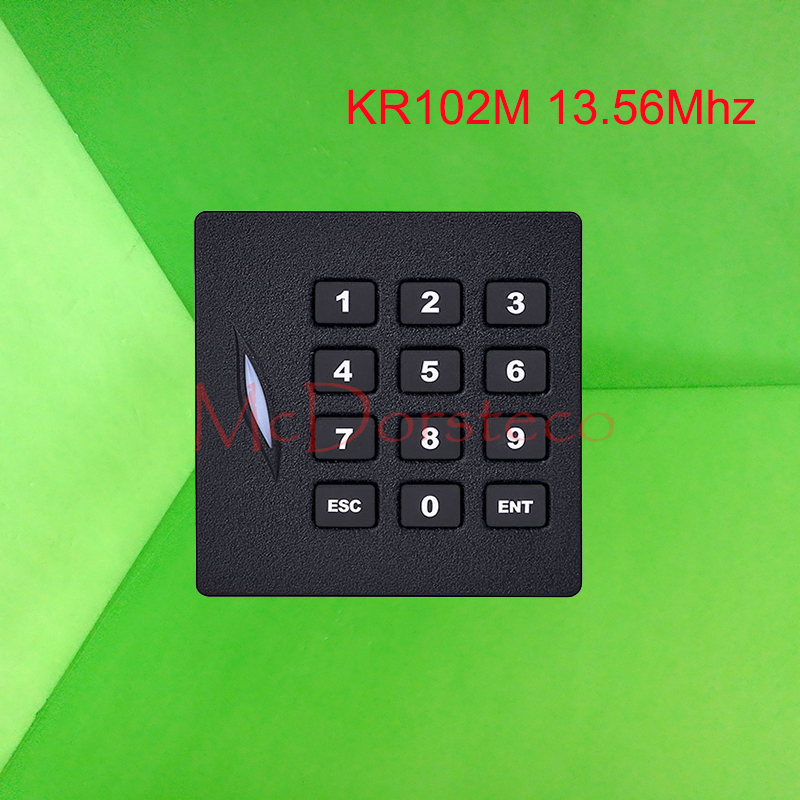 keypad MF1 Card reader with Wiegand 34bit / 13.56Mhz Proximity Card Reader,RFID Card Reader KR102M usb pos numeric keypad card reader white