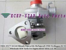 TD04 49177-01510 49177-01511 Oil cooled Turbo Turbocharger For Mitsubishi Pajero L200 L300 Delica Shogun 1984- 4D56 2.5L 3 holes
