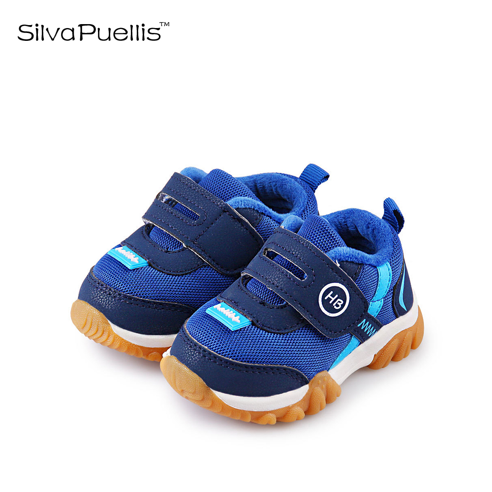 SilvaPuellis Children's Shoes 2018  Girls Winter Shoes Hook & Loop Boys And Girls Casual Shoes Plus Cotton Warm Children's Shoes 2016 winter new soft bottom solid color baby shoes for little boys and girls plus velvet warm baby toddler shoes free shipping