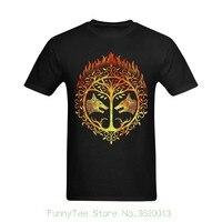 Men Bright Flaming Destiny Iron Banner Design Customized Retro Black