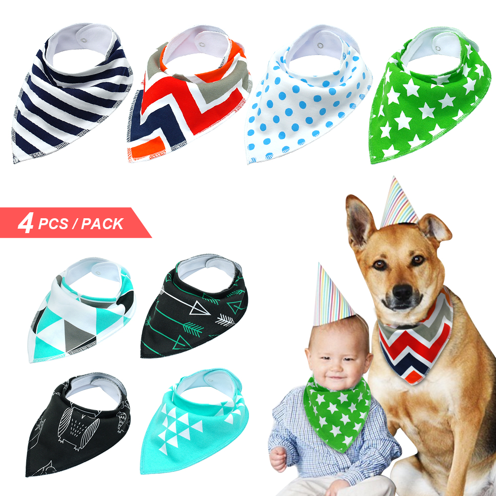 Dog Bandana Puppy Pet Bandanas Bibs Collar Scarf For Small Medium Large Dogs Accessories For Chihuahua Golden Retriever Собака