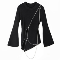 2017 Autumn Women Pullovers Sweater High Quality O Neck Medium Long Knitted Sweaters Long Slim Sweater