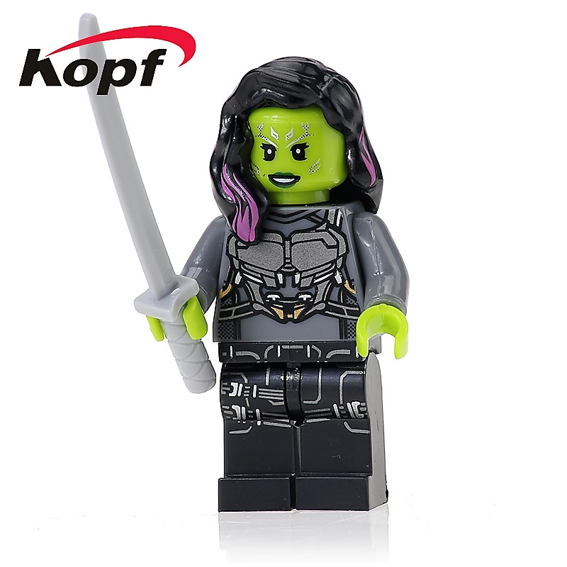 XH 609 Super Heroes Guardians of the Galaxy Gamora Rocket Racoon Bricks Action Building Blocks Collection Toys Children Gift
