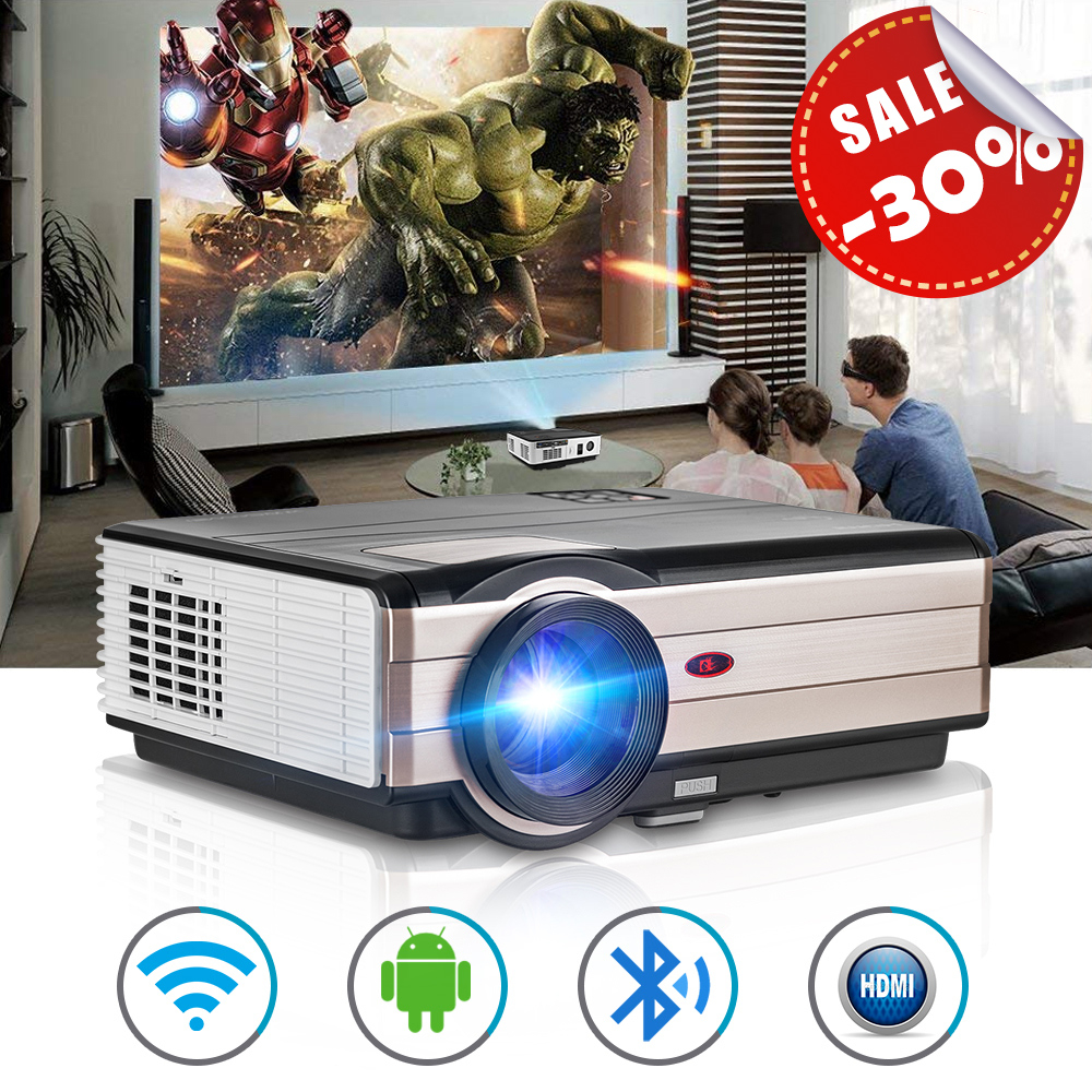 CAIWEI Smart LCD LED Projector Android WiFi Proyector Home Theater Beamer Wirele