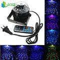 3 W RGB LED de Cristal Magic Ball Stage Efeito de Luz Disco Xmas Festa de natal Do Clube DJ Bar Laser Projector Lamp + Controle Remoto