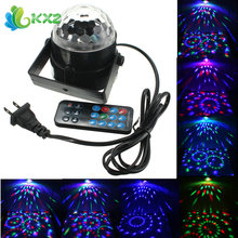 3W RGB LED Crystal Magic Ball Stage Effect Light Disco Xmas Christmas Party Club DJ Bar Laser Projector Lamp + Remote Control