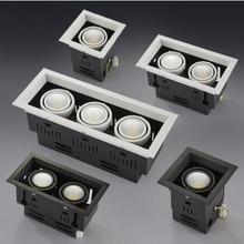 10 Вт 20 Вт 30 Вт светодиодный COB точечный светодиодный светильник с регулируемой яркостью AC85-265V Теплый/натуральный/холодный белый утопленный светодиодный точечный потолочный светильник