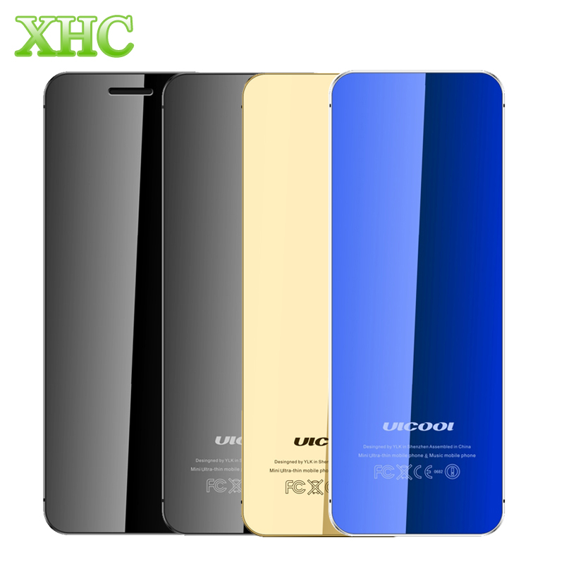 ULCOOL V36 Card Mobile Phone 1.54 inch MTK6261D Support Touch Keys Bluetooth 2.0 FM Anti-lost GSM Dual SIM Cellphones