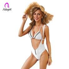 2019 Sexy White Bikini Swimwear Women Swimsuit Brazilian Set Solid Yellow Halter Top Beach Wear Bodysuit Bathing Suits XL