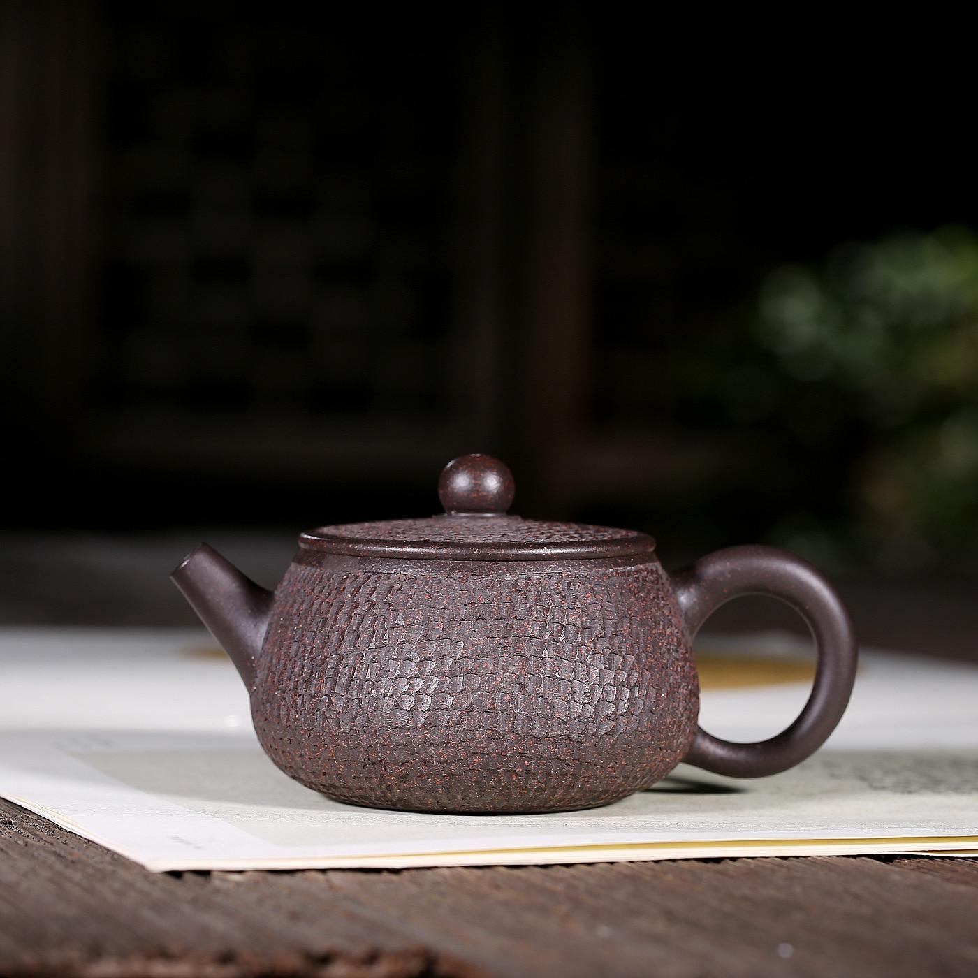 Nunca King morado arcilla tetera Yi Xing arcilla Gaiwan/ color negro /Taza de t/é