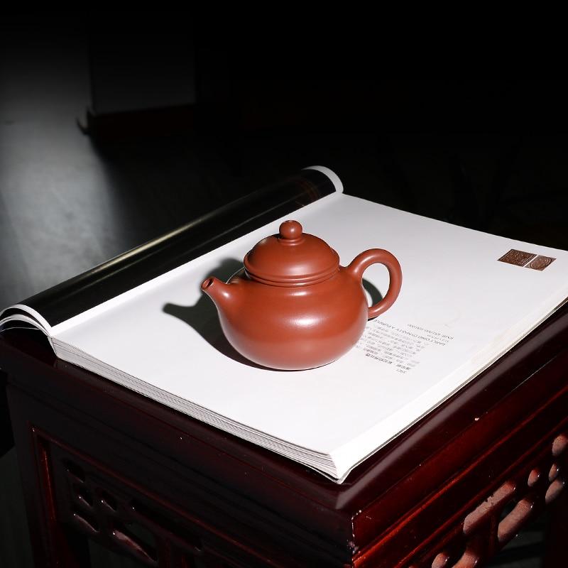 zisha tea pot Dahongpao clay full handmade kungfu pot real yixing zisha purple grit original ore RongTian pots of tea markedzisha tea pot Dahongpao clay full handmade kungfu pot real yixing zisha purple grit original ore RongTian pots of tea marked
