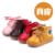Plantillas 11.5 ~ 15 cm invierno muchachos de las muchachas del niño del bebé inferiores suaves zapatos de Cuero Genuinos de Rusia de Invierno Caliente del Bebé niños botas de nieve