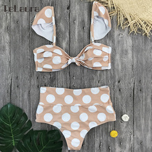 High Waist Push Up Print Brazilian Bikini