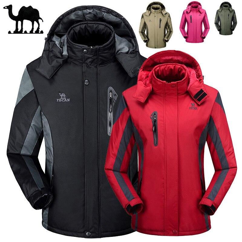 Лыжные куртки для мужчин и женщин, Теплые Водонепроницаемые Дождевики, уличные куртки для пеших прогулок, зимние спортивные куртки для ката...