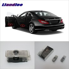 Liandlee Car Door Ghost Shadow Lights For Mercedes Benz CLS 2012~2016 Courtesy Doors Lamp Brand Logo LED Projector Welcome Light