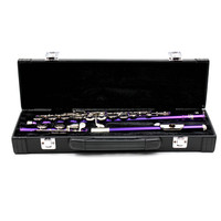 Professional portable bag for instruments flute gig leather box for western concert flute cotton padded waterproof durable case