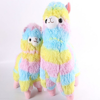 2015 New 1pcs Rainbow Alpaca Plush Toy Japanese Soft Plush Alpacasso Baby 100 Plush Stuffed Animals