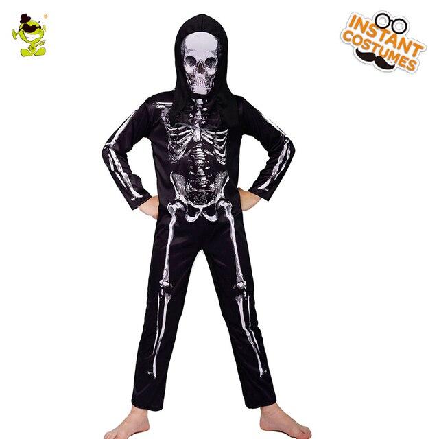 Skelet Voor Halloween.Us 18 11 15 Off Jongens Enge Skelet Kleding Kids Gruwelijke Killer Rollenspel Sets Halloween Party Enge Schedel Jurk Cosplay Halloween Party In