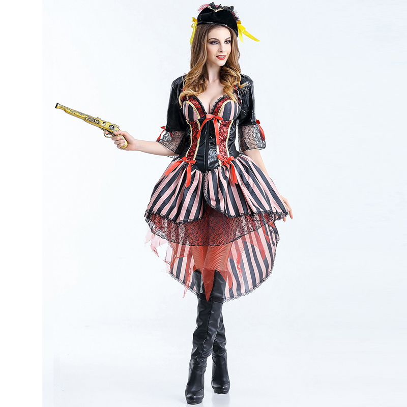2017 new arrival sexy female unique high quality party halloween costume women private hat cosplay dress - Unique Halloween Costume Women