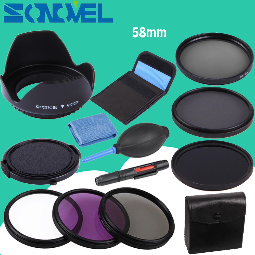Nd Filtre Fader Densit Neutre Nd2 Rglable Nd400 Variable Filter Slim Adjustable 2 400 To 49mm 49 Mm Fotga 58mm Uv Cpl Fld 4 8 Neutral Density Lens Set Hood