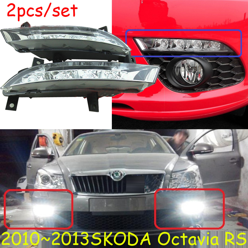 Skod Octavia RS daytime light;2009~2013 Free ship!LED,Octavia RS fog light,2pcs/set;Superb;Octavia RS skod octavia daytime light 2015 2017 chrome free ship led octavia fog light 2pcs set superb yeti fabia rapid octavia