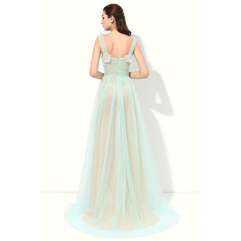 Eightree Sweetheart Evening Dress 2019 Fresh Green Sleeveless Party Long Dress Flower Girls Quinceanera Party Sweet Prom Dresses in Evening Dresses from Weddings Events