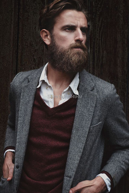 CUSTOM MADE Grey Herringbone Tweed Blazer Jacket,BESPOKE Casual ...