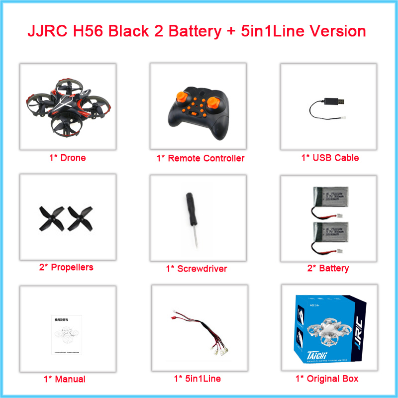 JJRC H56 TaiChi RC Mini Drone Interactive Altitude Hold Gesture Control Throw Shake Fly 3D Flip One Key Takeoff Landing VS T2G