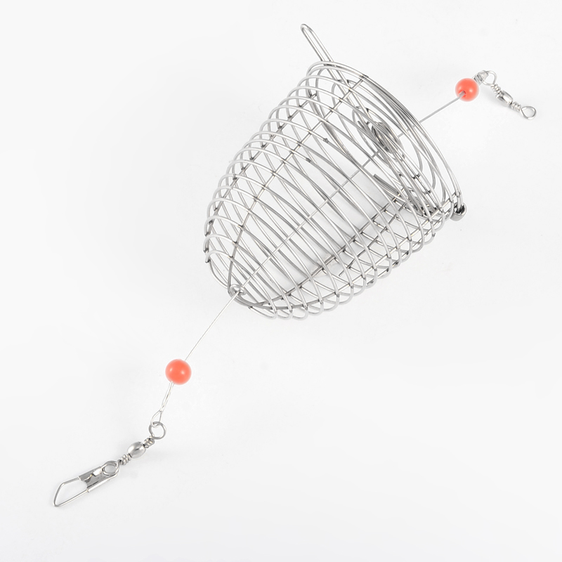 1 pcs Stainless Steel Fish Fishing Bait Thrower Ocean Bait