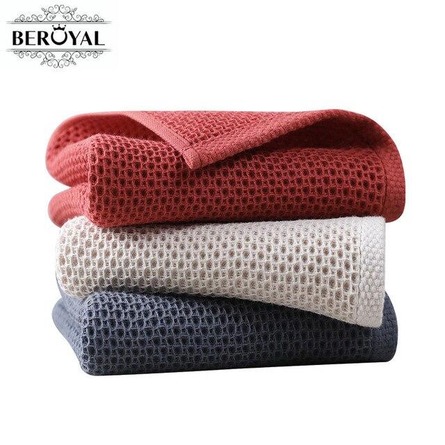 Beroyal di Marca 4 pz/set 100% Cotone Asciugamani per le mani per Adulti A Mano