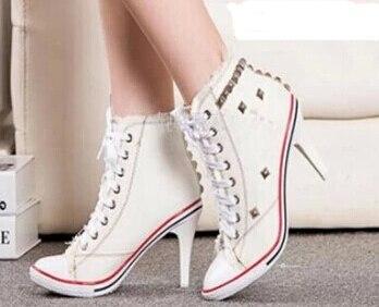 scarpe sportive tacco alto