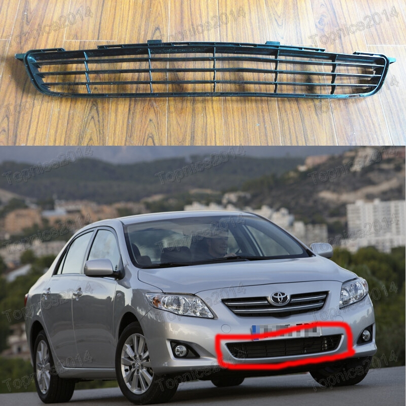 ФОТО 1Pcs Front Lower Grille Around Trim Front Center Grill Grille Trim For TOYOTA COROLLA 2007-2009
