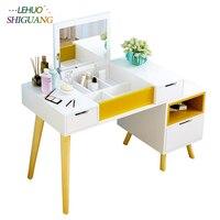 Комоды в сборе туалетный столик с зеркалом мебель для дома макияж стол косметический Органайзер шкаф для хранения комоды для спальни