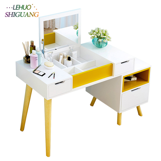 Dressers Embly Vanity Table With Mirror Home Furniture Makeup Cosmetic Organizer Storage Cabinet For Bedroom