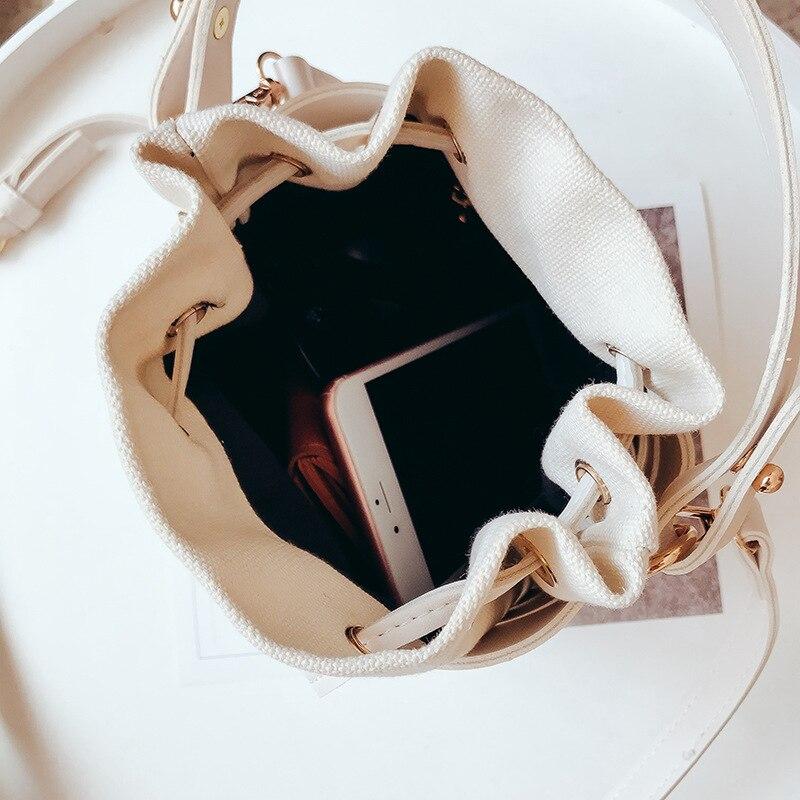 Spalla 2019 Sacchetto Borsa cachi Moda Di Messaggero Nuovo Singolo Il Del Versione Giallo Tendenza Piccolo Coreana Fata Nero bianco Selvaggio colore rSxwrn7qfO