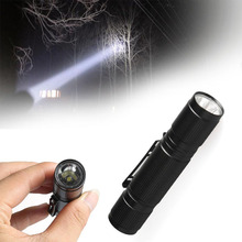 SKYWOLFEYE LED Flashlight 1200LM Mini Q5 LED Flashlight AA Battery Black Waterproof Torch Focus Light Hiking Camping Outdoor