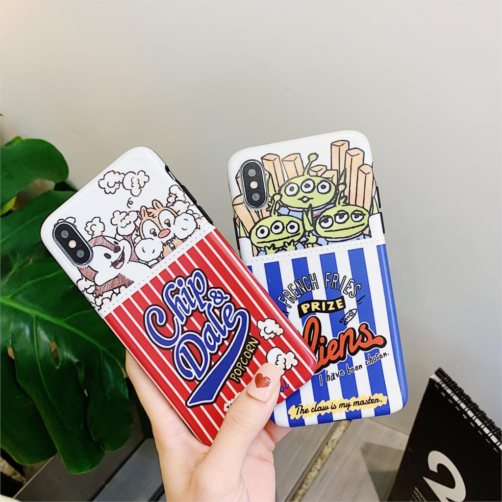 Reliable Cartoon French Fries Popcorn Wireless For Iphone Airpods For Iphone Headset Case Couples Soft Tpu Cover Cases With The Ring Phone Bags & Cases Cellphones & Telecommunications