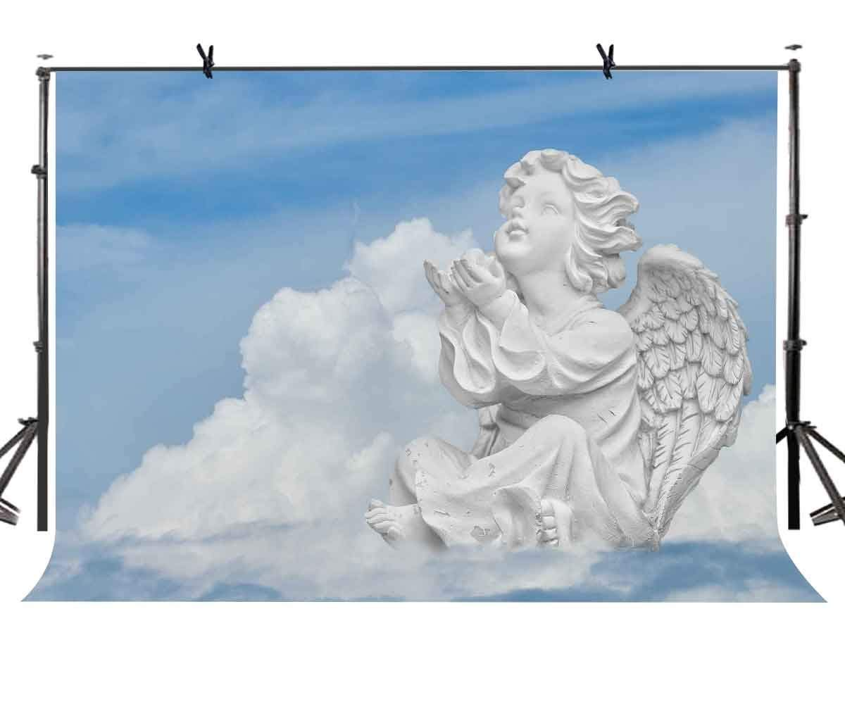7x5ft Angel Statue Backdrop Cute Little Angel Statue Photography Background and Studio Photography Backdrop Props in Photo Studio Accessories from Consumer Electronics