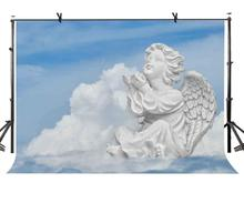 7x5ft Angel Statue Backdrop Cute Little Photography Background and Studio Props