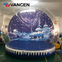 Goede show kerst decoratie opblaasbare sneeuw bal 3 m diameter opblaasbare sneeuwbol voor foto