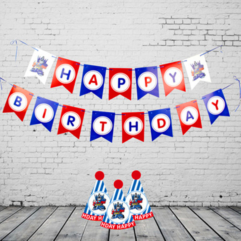 Happy Birthday Letter Paper Banner Flag Party Kids Garland Baby Children Baby Boy Girl Child Bunting Adult Favors Supplies Decor