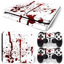 Η διαίρεση πολύχρωμο σχεδιασμό βινυλίου αυτοκόλλητα δέρματος για PS4 Slim κονσόλα παιχνιδιών PVC decals για PS4 Slim