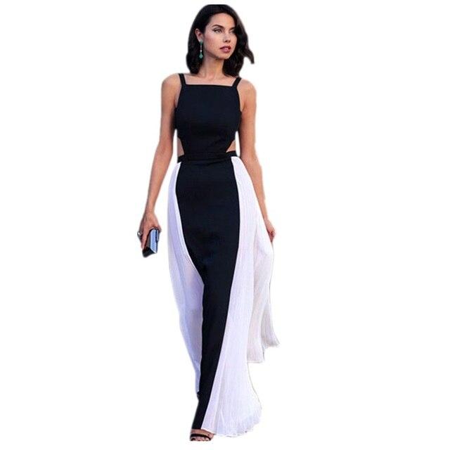 Bodystocking Women Summer Patchwork Long Dresses Vestido Largos ...