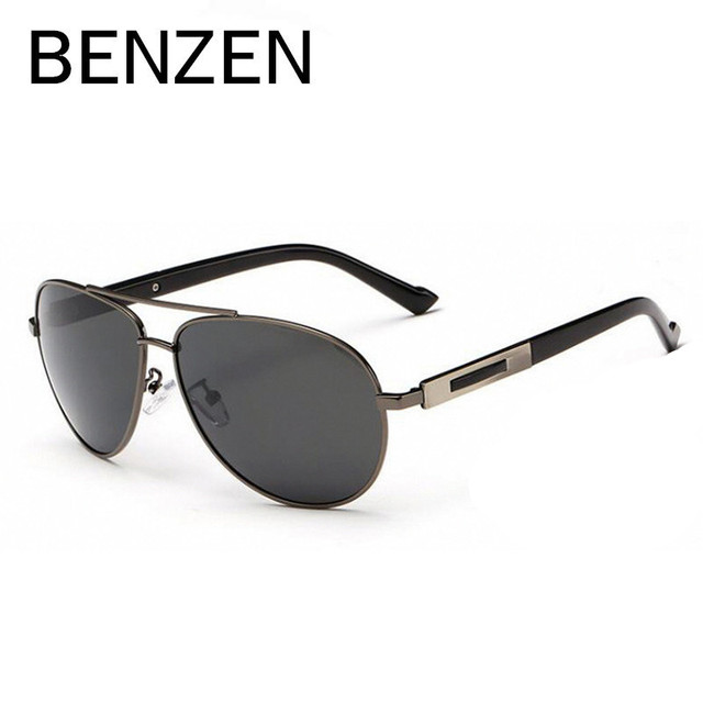 8f25b14b9 BENZEN Men Polarized Sunglasses Brand Designer Male Sun Glasses UV 400  Driver Driving Glasses Shades Black