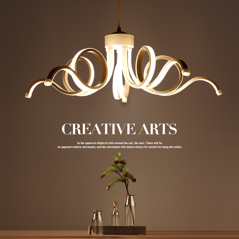 Personality Modern Hanging Lamp Unique LED Pendant Light For Bedroom Dining Room Suspended Lighting Ceiling Drop Lights Fixture