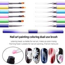 1PC Nail Art Beauty Pen With Double-headed Steel Push And Adjust Glue Pen With Special-shaped Petal Painting Pen Beauty Tool