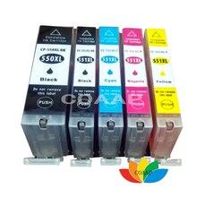 5PK באיכות גבוהה תואם עבור PGI 550 CLI 551 דיו Cartridg עבור PIXMA MG5460 MG6360 Ip7260 MX925 MG5450 MG5550 MG6350 IP7250