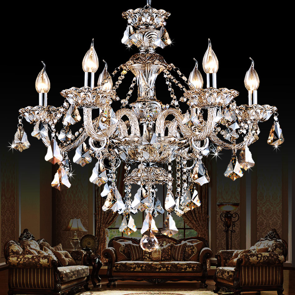 K9 crystal chandelier lighting Modern luxury crystal pendant Chandelier light lighting for bedroom living room dining