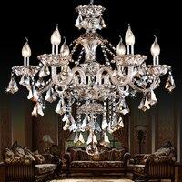 K9 хрустальные люстры Современная роскошь Кристалл кулон люстра свет освещение для спальни гостиной столовой свет