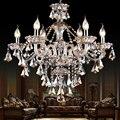 K9 lustre de cristal Moderna iluminação de cristal de luxo pingente Lustre luz de iluminação para o quarto sala de estar sala de jantar luz
